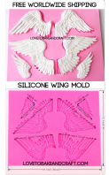 Large Wing mold, Fairy wings, Fairy wing mold, Angel wings Free worldwide shipping (1)